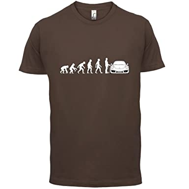 Evolution of Man - 911 Fahrer - Herren T-Shirt - Schokobraun - XL