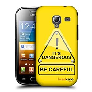 Head Case Designs Dangerous Life Signals Protective Snap-on Hard Back Case Cover for Samsung Galaxy Ace 2 I8160 by ruishername