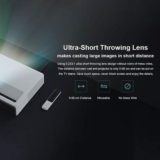 Walmeck- Original Mi Mijia - Proyector láser de 150 Pulgadas, 1080 ...