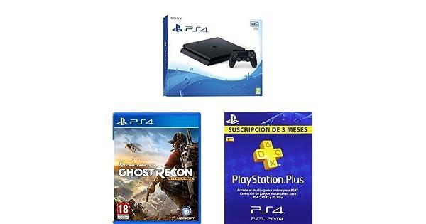 PlayStation 4 Slim (PS4) - Consola de 500 GB + Ghost Recon ...