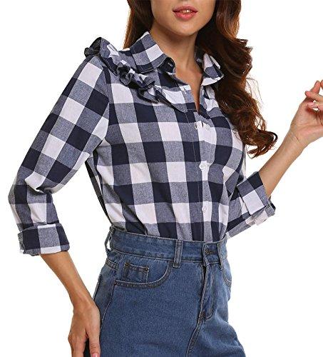 Ruffle Button Down Shirt - 9