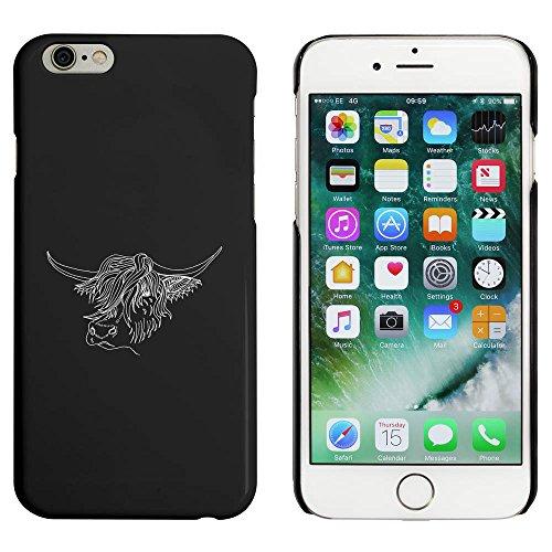 Noir 'Vache Montagnes' étui / housse pour iPhone 6 & 6s (MC00021117)