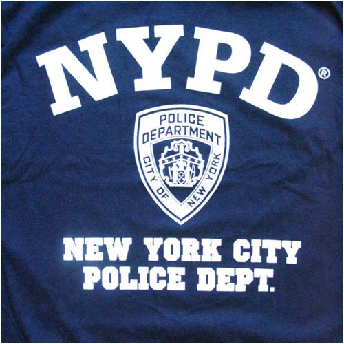 NYPD T-SHIRT, Officially Licensed Crewneck New York Police Department Athletic Tee, Navy XL