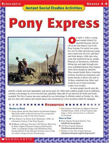 Amazon Instant Social Studies Activities Pony Express