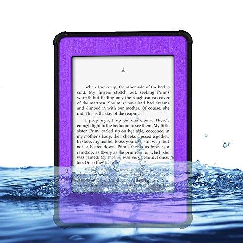 "(Surprised) Professional Waterproof Design Case for Kindle Paperwhite 6"" - Waterproof Dirtproof Snowproof Shockproof Hard Armor Defender Case Box Hard Tablet Shell for Amazon Kindle Paperwhite 6""(does Not Fit Kindle or Kindle Touch) (5 Purple)"