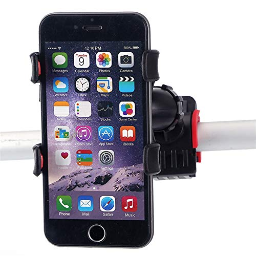 Bicycle Handlebar Clip Mount Bracket Adjustable Bicycle Phone Holder for 4.5 to 7 inch Smartphone Bicycle Stem Handlebar Cell Phone Holder Motorcycle Mobile Phone Holder Stand for Cell Phone ()