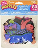 Darice SP301D 80-Piece Sock Puppet Parts Craft Supplies, People Theme