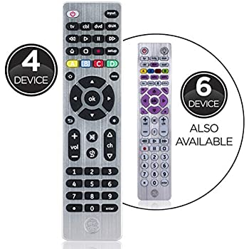 GE Universal Remote Control for Samsung, Vizio, LG, Sony, Sharp, Roku,  Apple TV, RCA, Panasonic, Smart TVs, Streaming Players, Blu-ray, DVD,  Simple