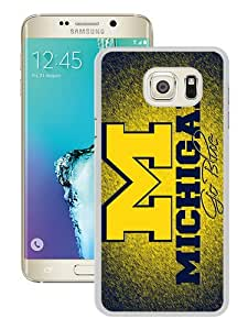 Newest Samsung Galaxy S6 Edge Plus Case ,Ncaa Big Ten Conference Football Michigan Wolverines 10 White Samsung Galaxy S6 Edge+ Cover Case Hot Sale And Popular Designed Phone Case