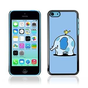 YOYOSHOP [Funny Cute Elephant & Bird] Apple iPhone 5C Case