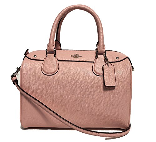 - Coach Women's Crossgrain Leather Mini Bennet Satchel No Size (Sv/Blush2)