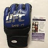 "Autographed/Signed Urijah Faber HOF 17"" Blue UFC"