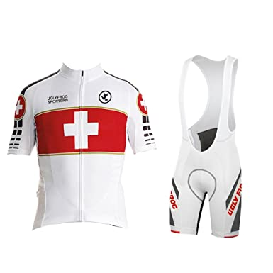 6e88729b9 Uglyfrog Men s Short Sleeves Cycling Jersey Set Bike Jersey Suit Cycling  Shirt Bib Shorts with 3D