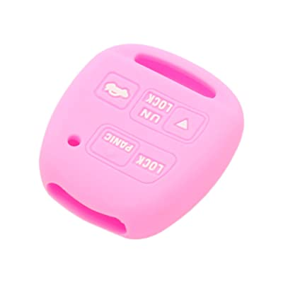 SEGADEN Silicone Cover Protector Case Skin Jacket fit for TOYOTA LEXUS 3 Button Remote Key Fob CV2423 Pink: Automotive