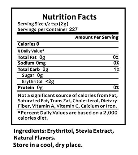 Natural Mate Granular Sweetener, Stevia and Erythritol, 1 Pound, (Pack of 3) by Natural Mate (Image #7)