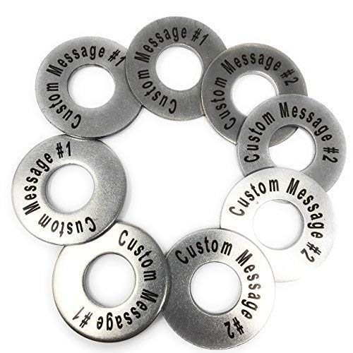 Replacement Washer Set - Personalized Laser Engraved Stainless Steel Replacement 2-1/2