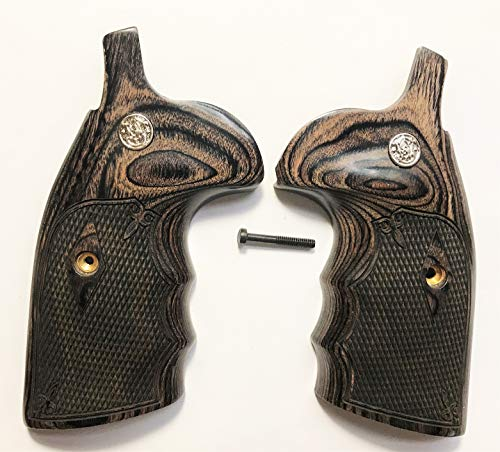 Gun Grip Supply Smith & Wesson S&W K/L Frame Grips Silverblack Checkered (Smith & Wesson Model 67 For Sale)