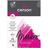 Canson Arts graphiques Marker layout Papier à dessin A3 29,7 x 42 cm 70 feuilles Extra Blanc