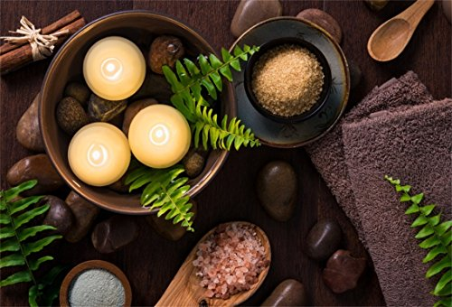 CSFOTO 5x3ft Background for Luxury Spa Composition Photography