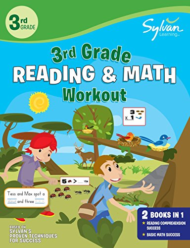 3rd Grade Reading & Math Workout: Activities, Exercises, and Tips to Help Catch Up, Keep Up, and Get Ahead (Sylvan Beginner Workbook)
