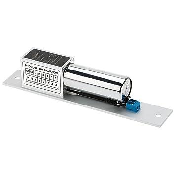 KKmoon Cerradura Eléctrica de Perno NC 12V para Sistema de Control Acceso Entrada de Puerta: Amazon.es: Electrónica