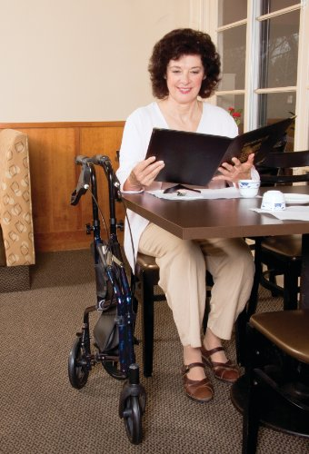 Carex 3 Wheel Walker For Seniors, Foldable, Rollator Walker With Three Wheels, Height Adjustable Handles by Carex Health Brands (Image #4)