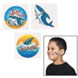 "Fun Express 72 ~ Shark Temporary Tattoos ~ Approx. 1.5"" ~ New"