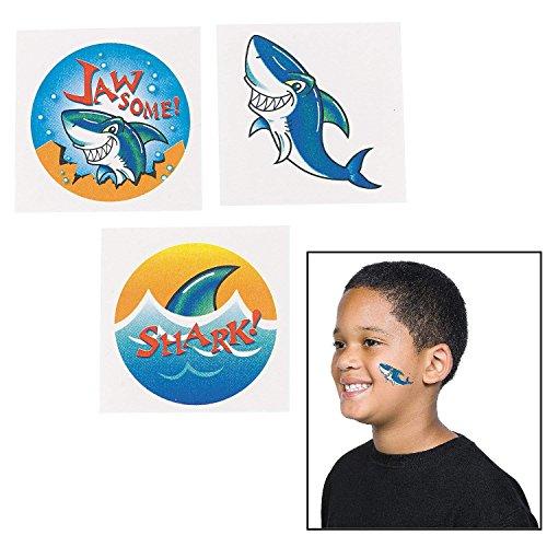 Fun Express 72 ~ Shark Temporary Tattoos ~ Approx. 1.5