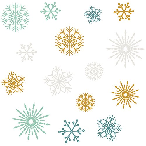 Merry & Bright Rub-Ons-Snowflakes