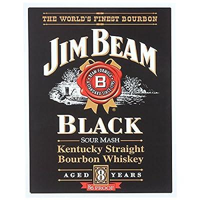 nostalgicsigns Tin Sign Jim Beam Black 41x32cm