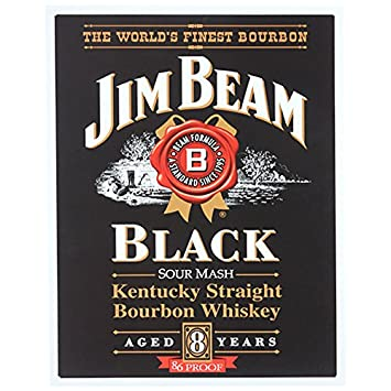 Amazon.com: Jim Beam Black Label Metal Bar Sign: Prints: Posters ...