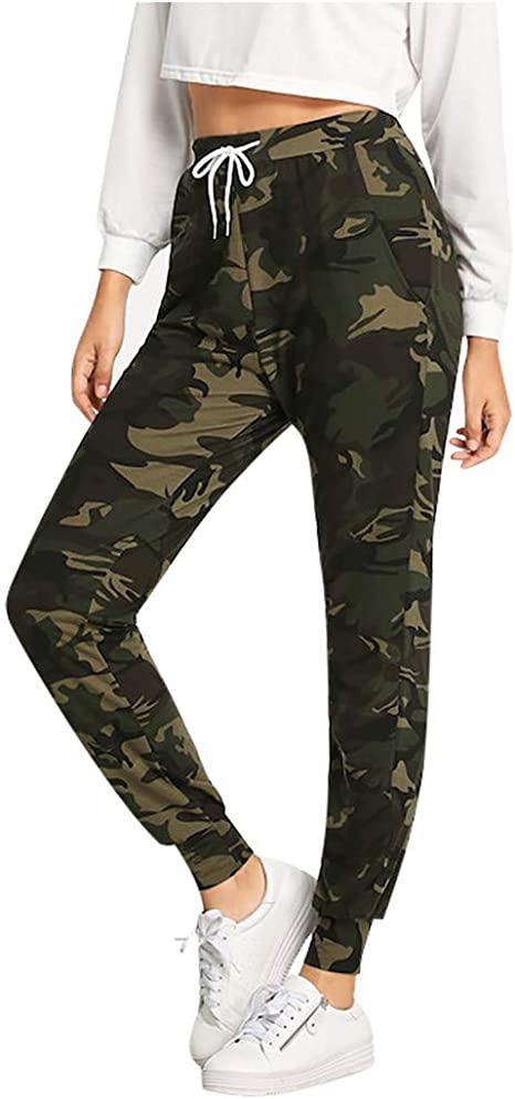 YanHoo - Mallas de Camuflaje para Mujer, Pantalones de chándal con ...