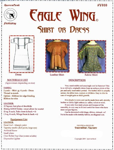 Sewing Pattern: Eagle Wing Shirt, Ribbon Shirt or Dress - Sizes L - XXL (Wing Eagle Shirt)