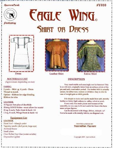 Sewing Pattern: Eagle Wing Shirt, Ribbon Shirt or Dress - Sizes L - XXL (Trapper Moc)
