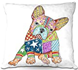 DiaNoche Designs Decorative Outdoor Patio Couch Throw Pillows from BBQ Garden Outdoor Ideas by Marley Ungaro Unique - French Bulldog
