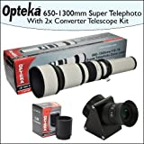 Opteka 650-2600mm HD Telephoto Zoom Lens with Telescope Converter Kit