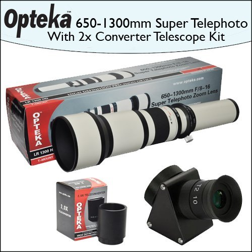 Opteka 650-2600mm HD Telephoto Zoom Lens with Telescope Converter Kit by Opteka