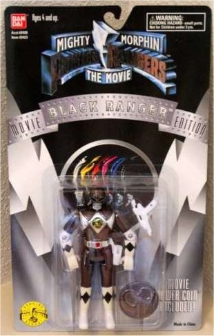 Mighty Morphin Power Rangers The Movie Black Ranger with Movie Power Coin