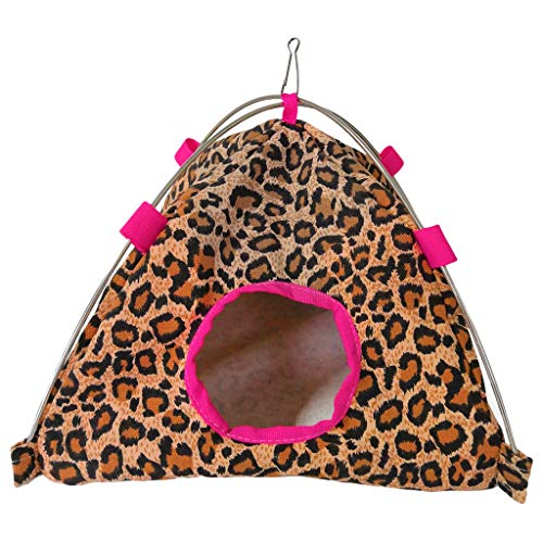 Pet Tent,FTXJ Small Pet Tent Bird Nest Hamster Chinchillas Hanging Hammock Parrot Tent (22X22X19CM, D)