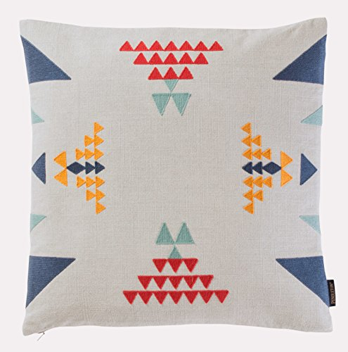 Pendleton Woolen Mills Point Reyes Crewel Embroidered Triangle Pillow, One Size