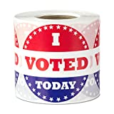 I Voted Today Circle Voting Label Round Self Adhesive Stickers Red White Blue 2 inch 300 labels per package
