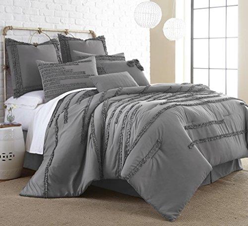 Collette Square - Amrapur Overseas Collette 8-Piece Embellished Comforter Set (King)