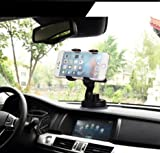 Universal Smart Phone Car Mount with Suction for Dashboard / Windshield MKSD - Universal Cell Phone Holder for iPhone / Samsung / HTC / Moto / LG / Nexus and More (Black)