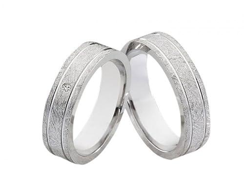 alianzas Partner anillos anillos de bodas de plata 136 con diamante Anillos de Compromiso Incluye grabado: Amazon.es: Joyería