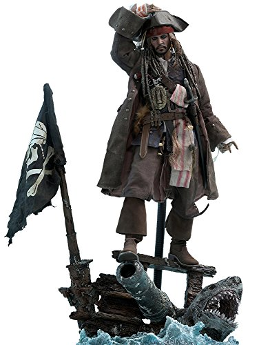 Hot Toys Captain Jack Sparrow Sixth Scale Figure Pirates of the Caribbean: Dead Men Tell No Tales - DX Series Movie Masterpiece Johnny Depp Action (Sideshow Hot Toys)