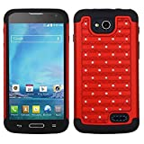 Asmyna Full Star Protector Cover for LG D415 Optimus L90 - Retail Packaging - Red/Black