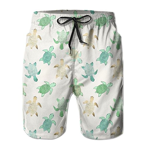 Boys Board Shorts Quick Dry Sea Turtles Short Pants For Man's (Tormentor Board Shorts)