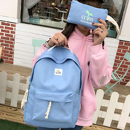 Moda 2017 2 Mujeres UNIDS Hombro Escuela Diseño de Lona Señoras Niñas mochila SET Mochila Bolsa Viento Universitario 1TxqRBT