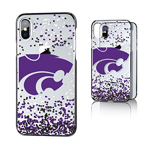 Keyscaper KCLRIX-0KSU-FETTI1 Kansas State Wildcats iPhone X/XS Clear Case with KS Confetti Design