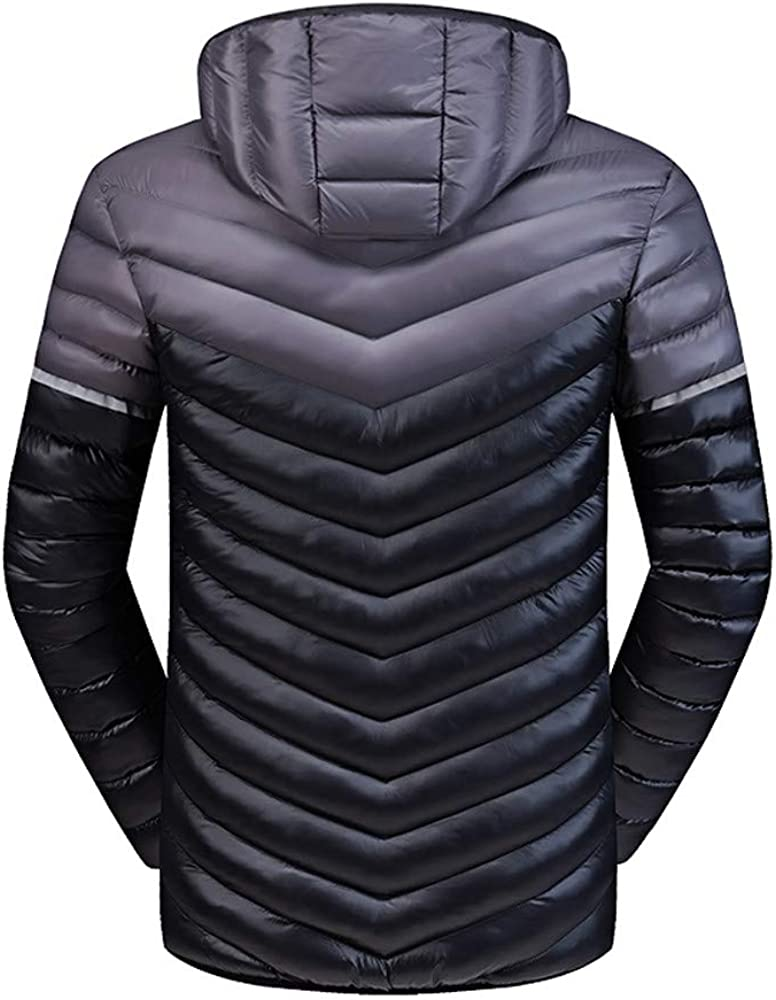 YKARITIANNA Men Color Block Quilted Lightweighted Spring Warm Coats Jogger Sports Daily Tops